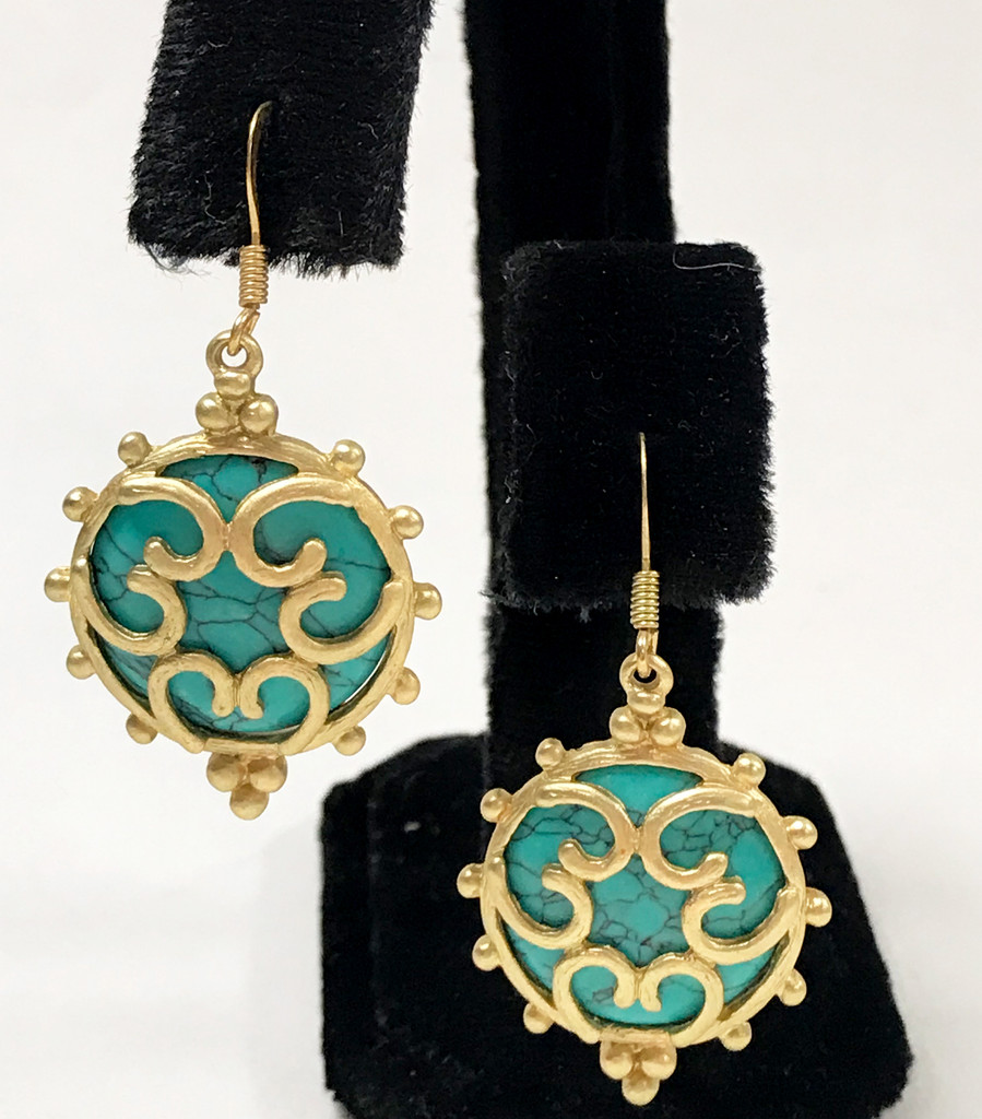 Caged Turquoise Earrings