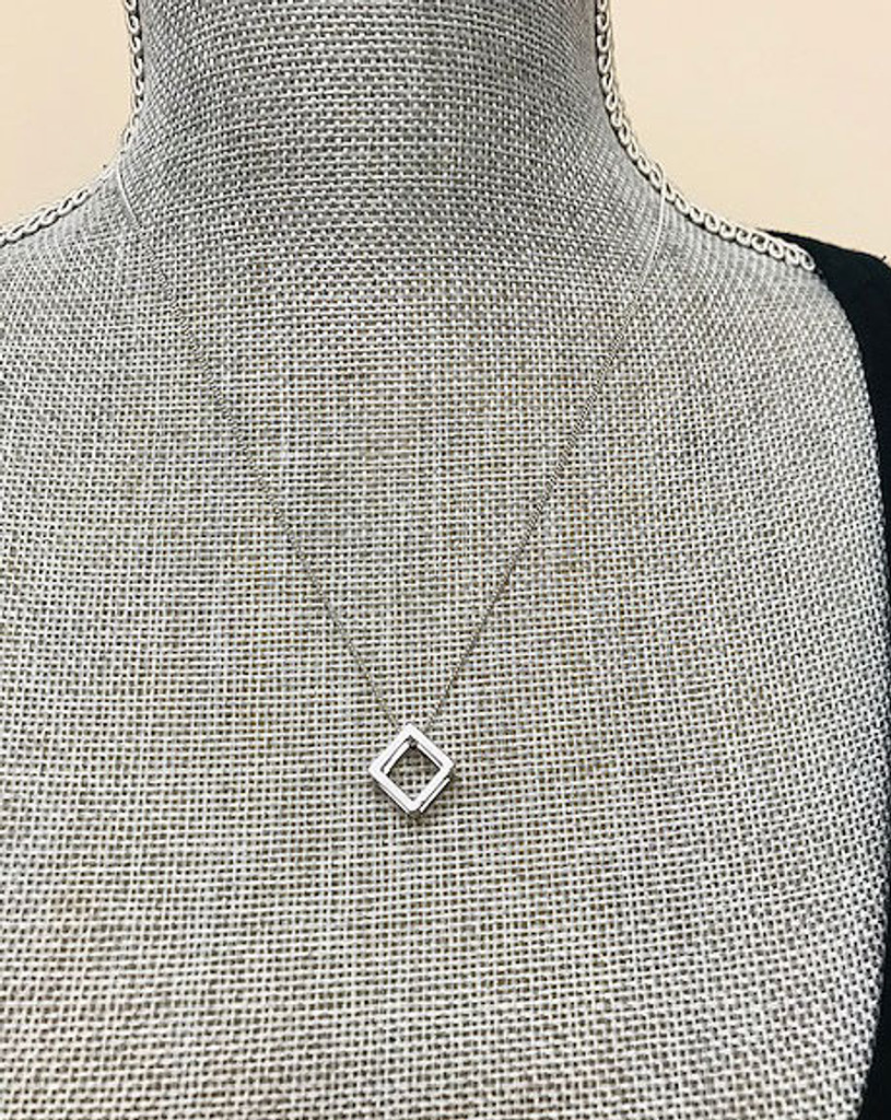 The Cube Necklace in Silver
