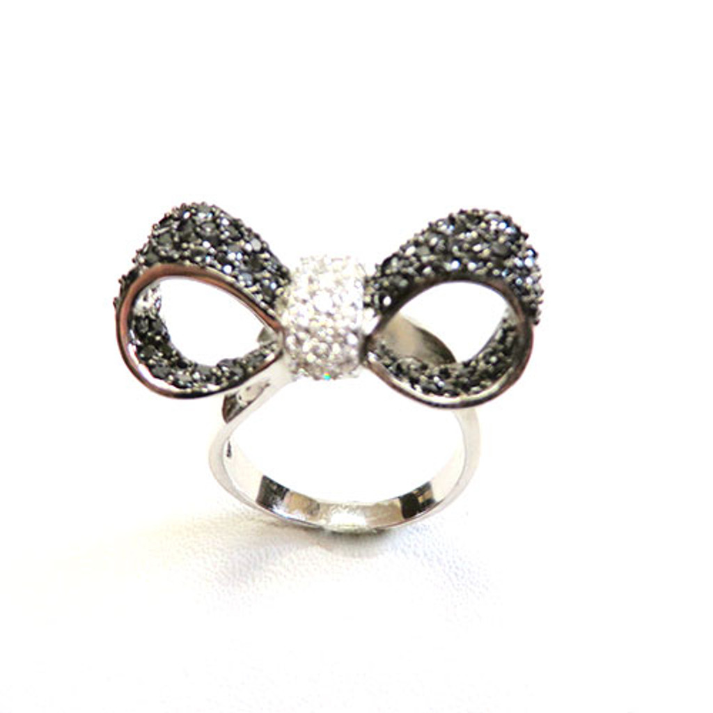 Pave Bow Tie Ring