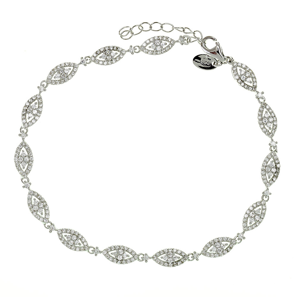 Ovals and Diamonds Bracelet