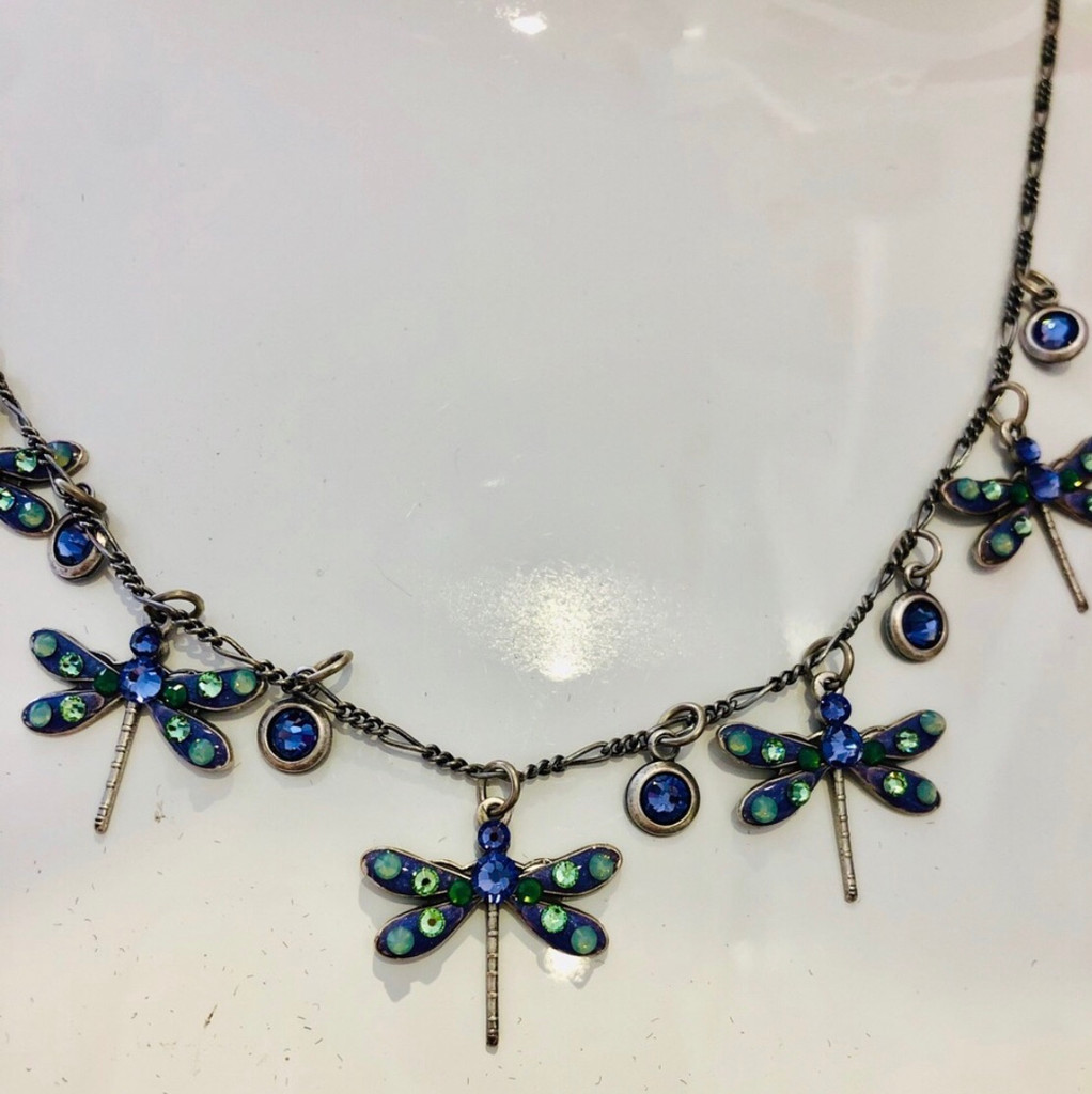 The Blue Dragonfly Necklace
