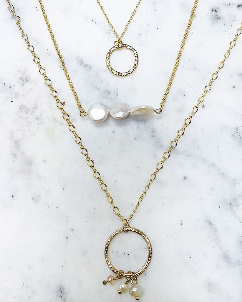 Fresh Water Pearls Layered Chain Trio