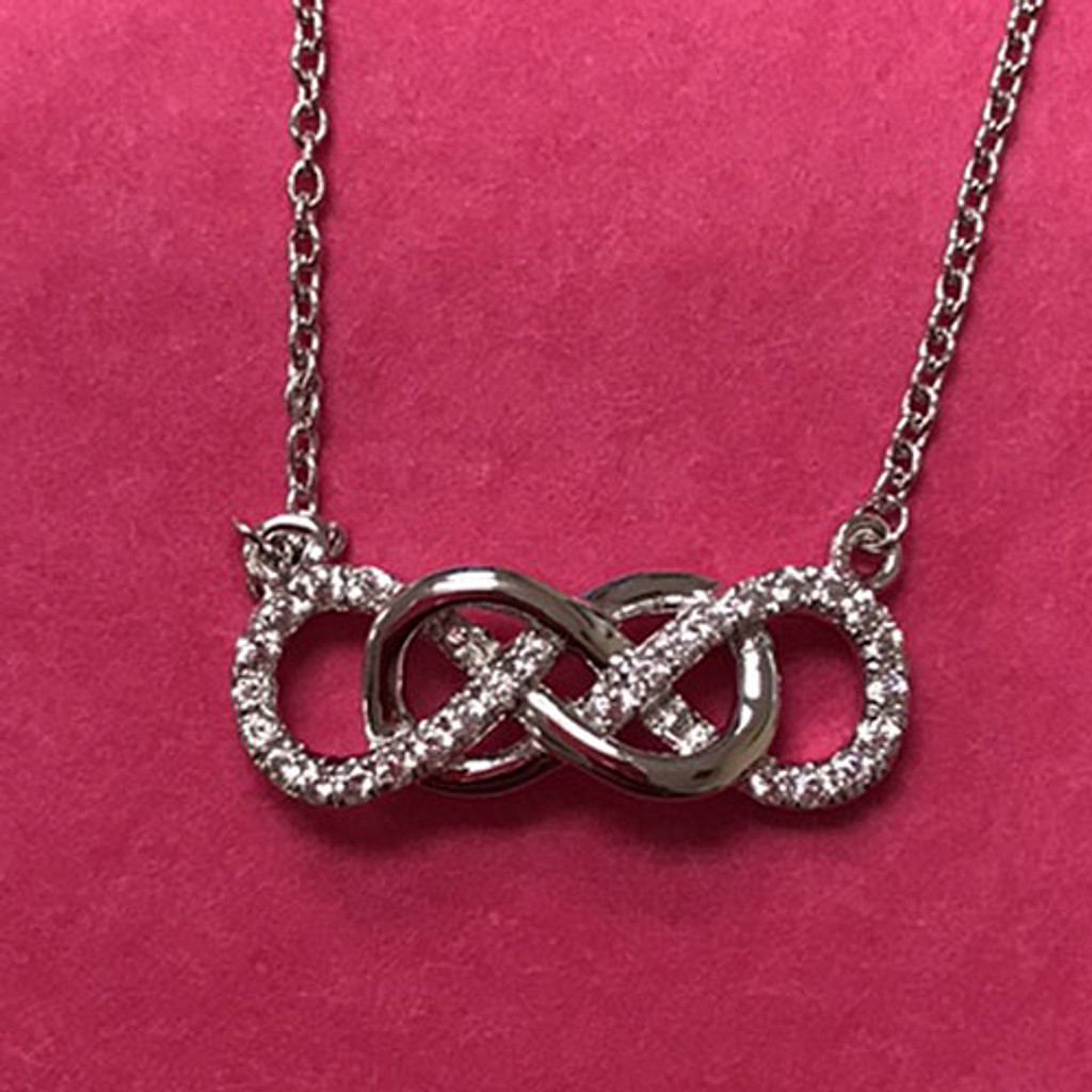 Lafonn's Forever Eternal Double Infinity Necklace