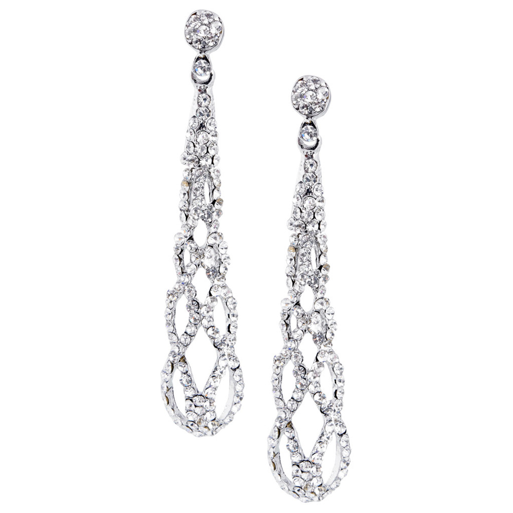 Pave Helix Earring Clear