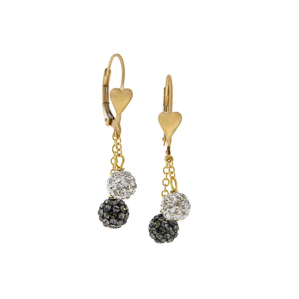 Dazzling Crystal Drop Earrings G/W