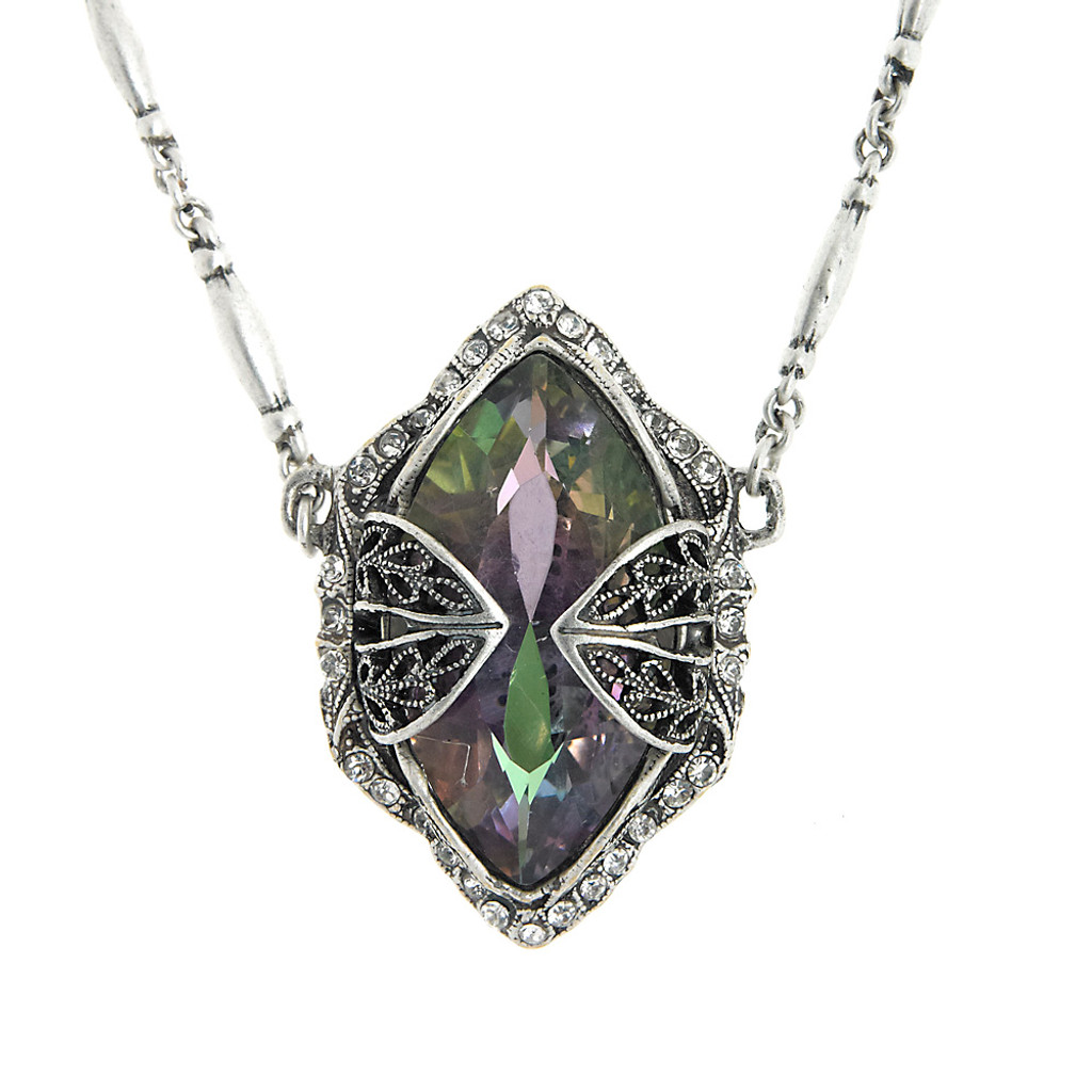 Encaged Vitrail  Lite Crystal Necklace