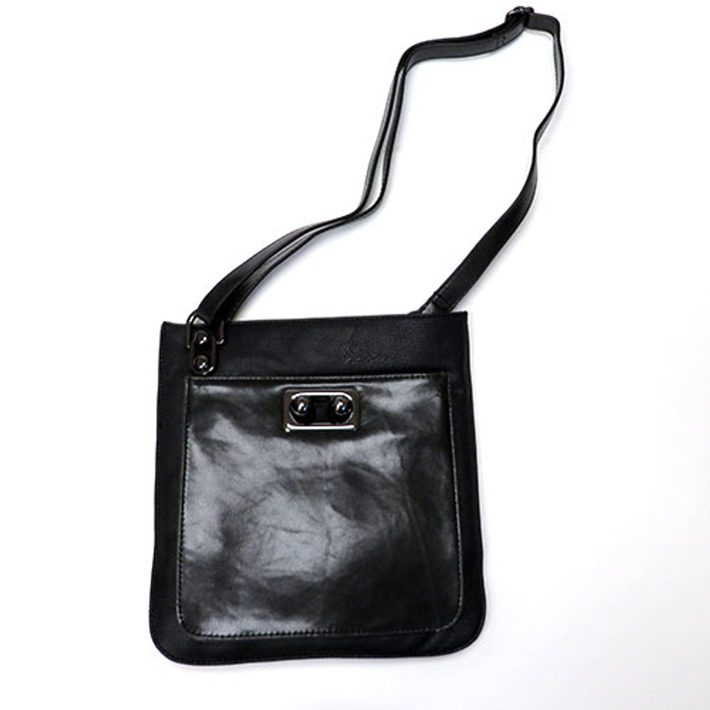 Our Nappa Black Cross Body Bag