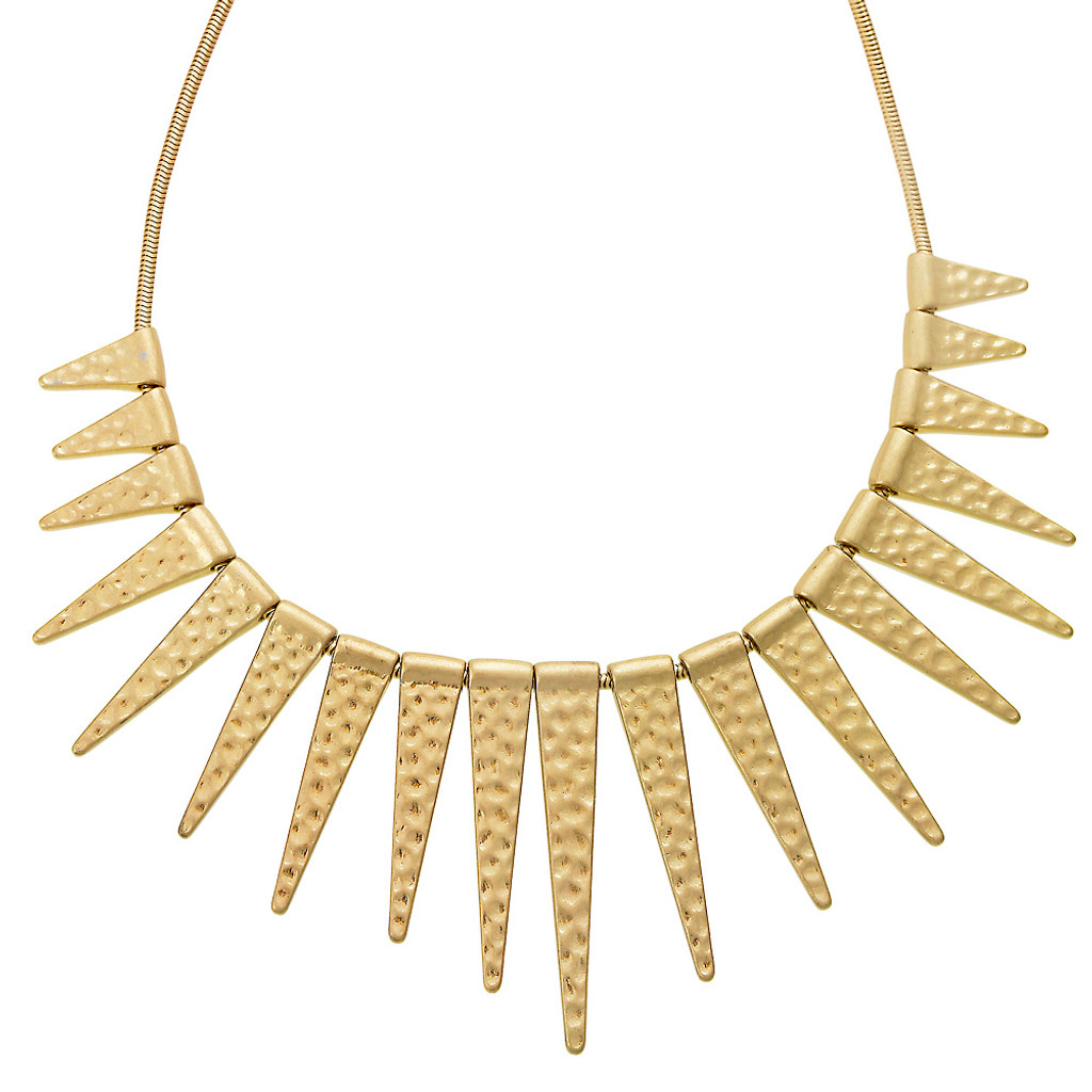 Textured Spike Necklace