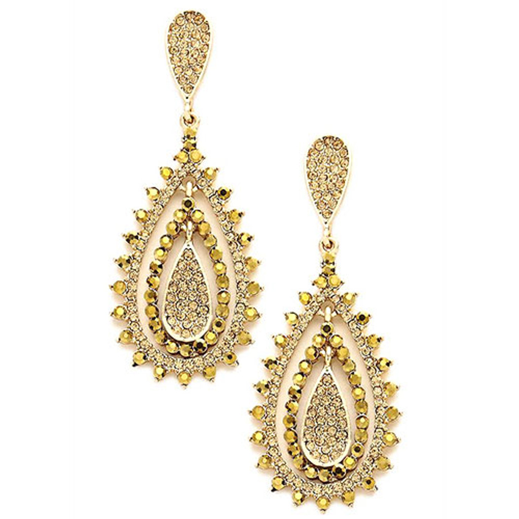 Light Colorado Gold Crystal Romantica Earrings