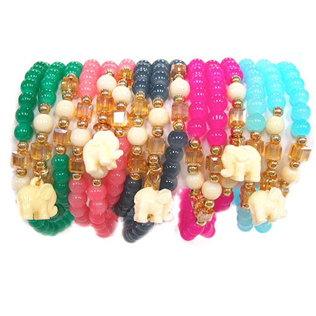 """Good Luck"" Elephant Bracelet"