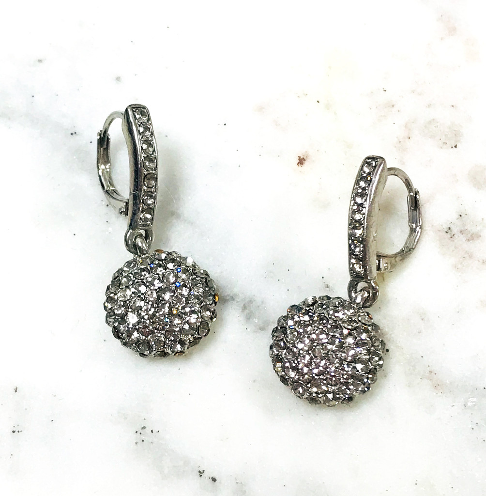 Cubic Zirconia Pave Ball on Euro Wire