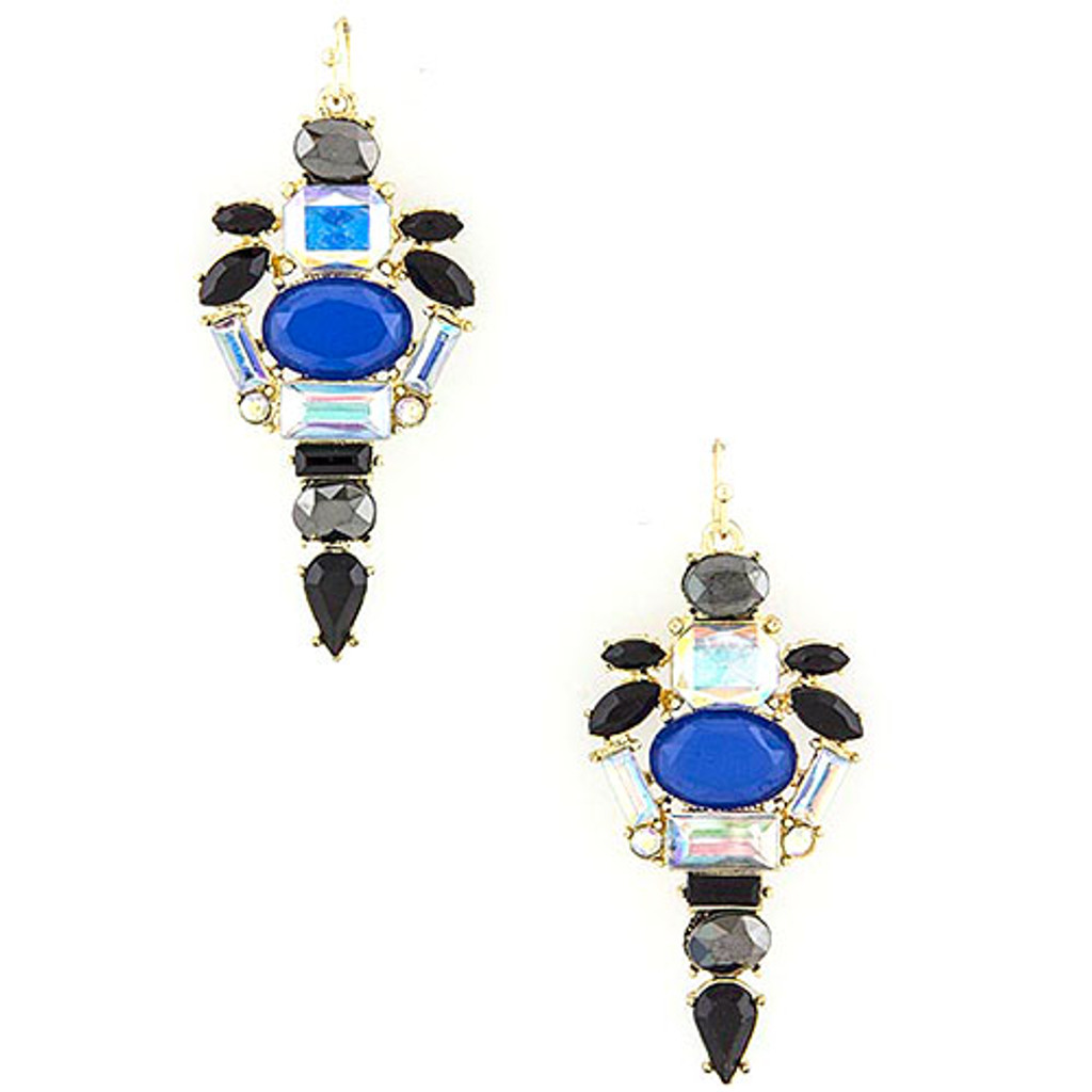 Blue Caviar Crystal Dangle