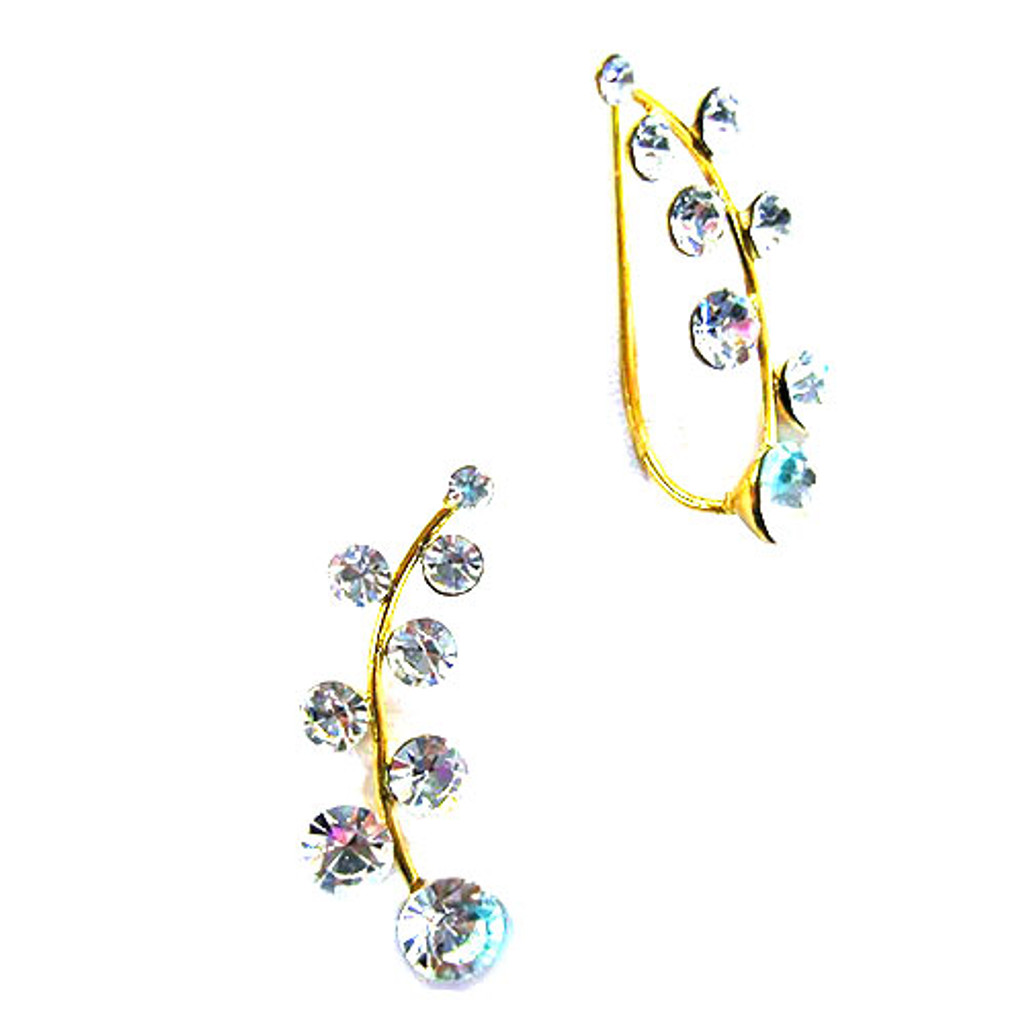 Crystal Branch Ear Cuff