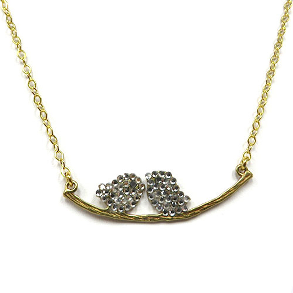 Lil' Lovebirds Necklace Clear