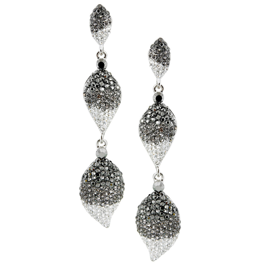 Three Teardrop Pave Drops