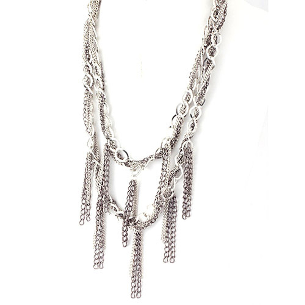 Chains and Tassels Necklace