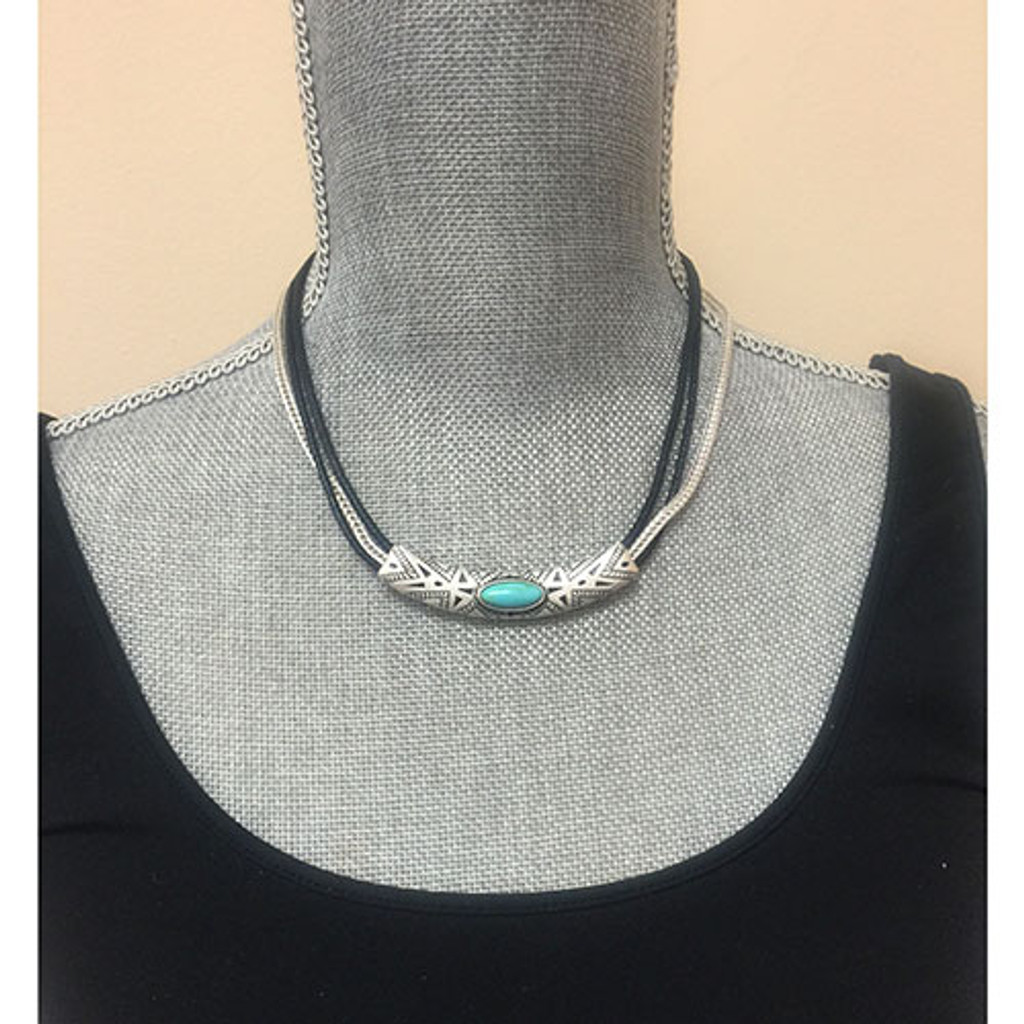 Triple Corded Aztec Necklace