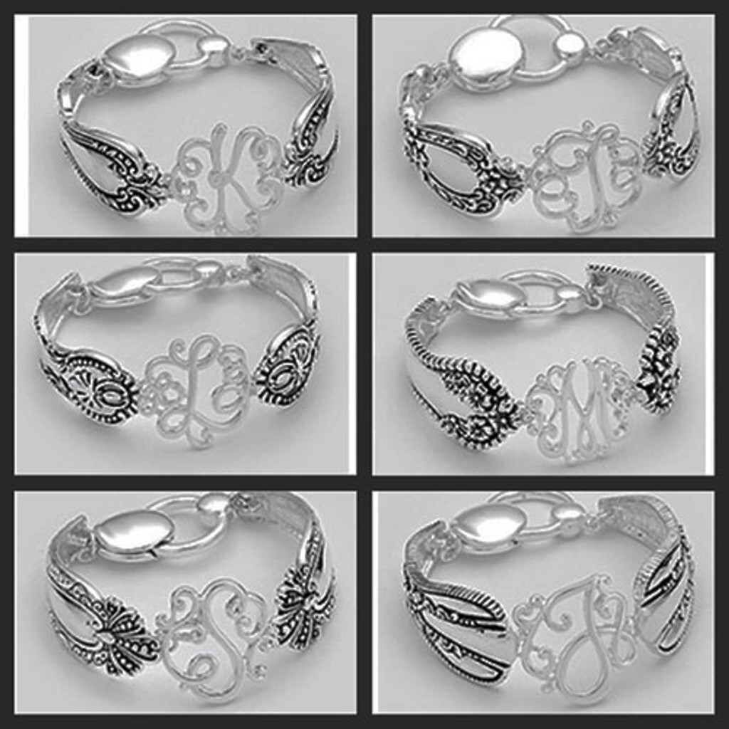 Filigree Spoon Initial Bracelet