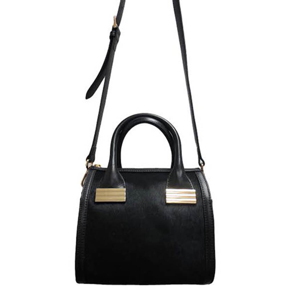 Sondra Roberts' Mini Hair calf Satchel In Black