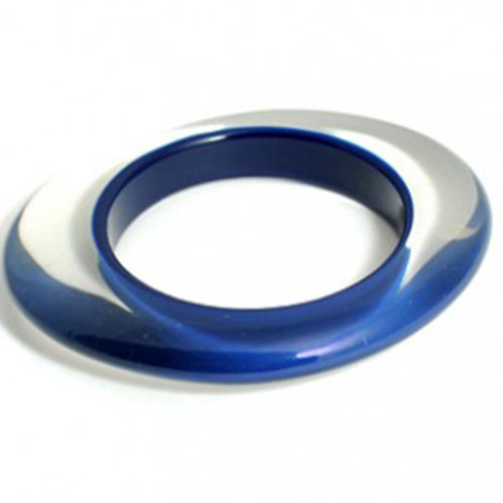 Blue Color Injected Lucite Bangle