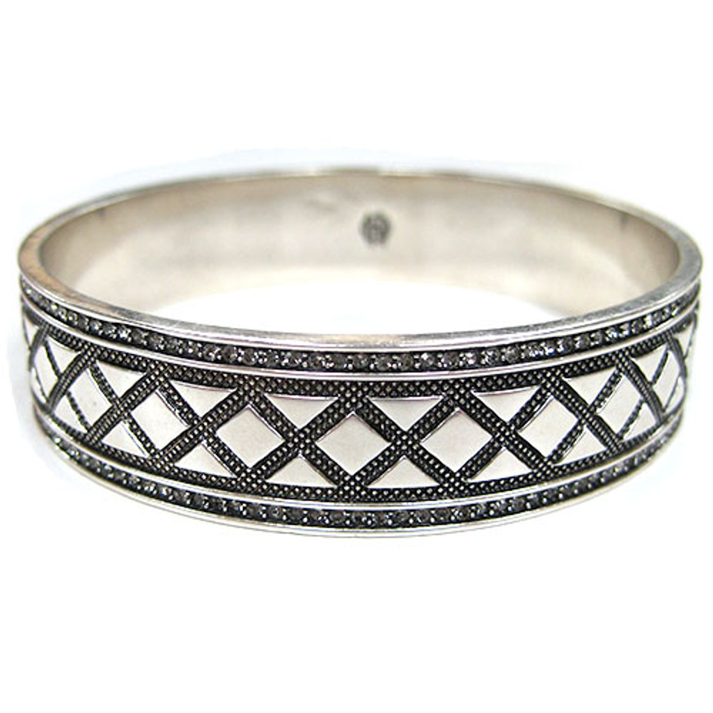 House of Harlow 1960 Silver Aztec Bangle