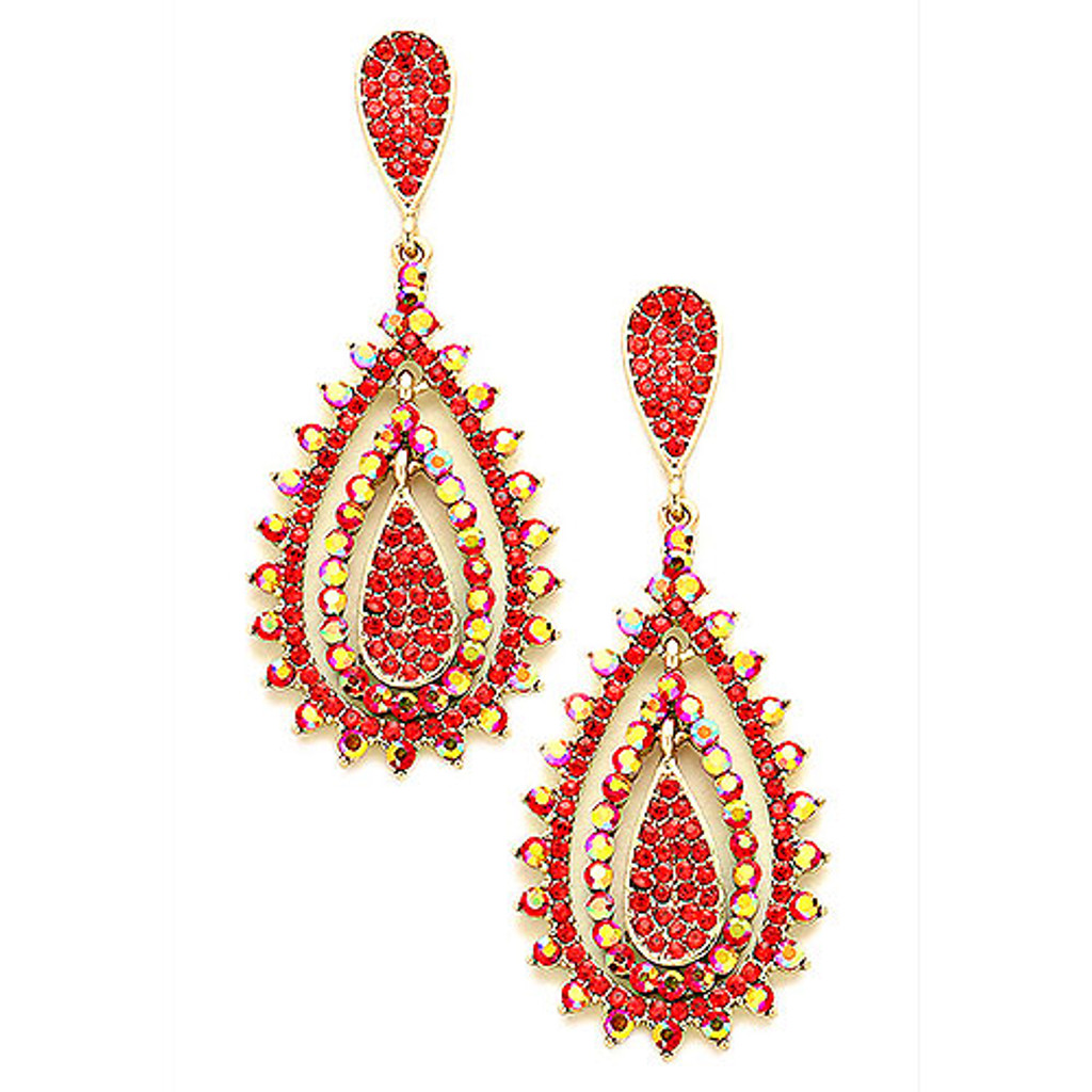 Light Siam and Red Siam AB Romantica Earring
