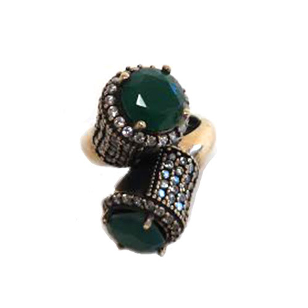 Ottoman Empire Double Stone Ring