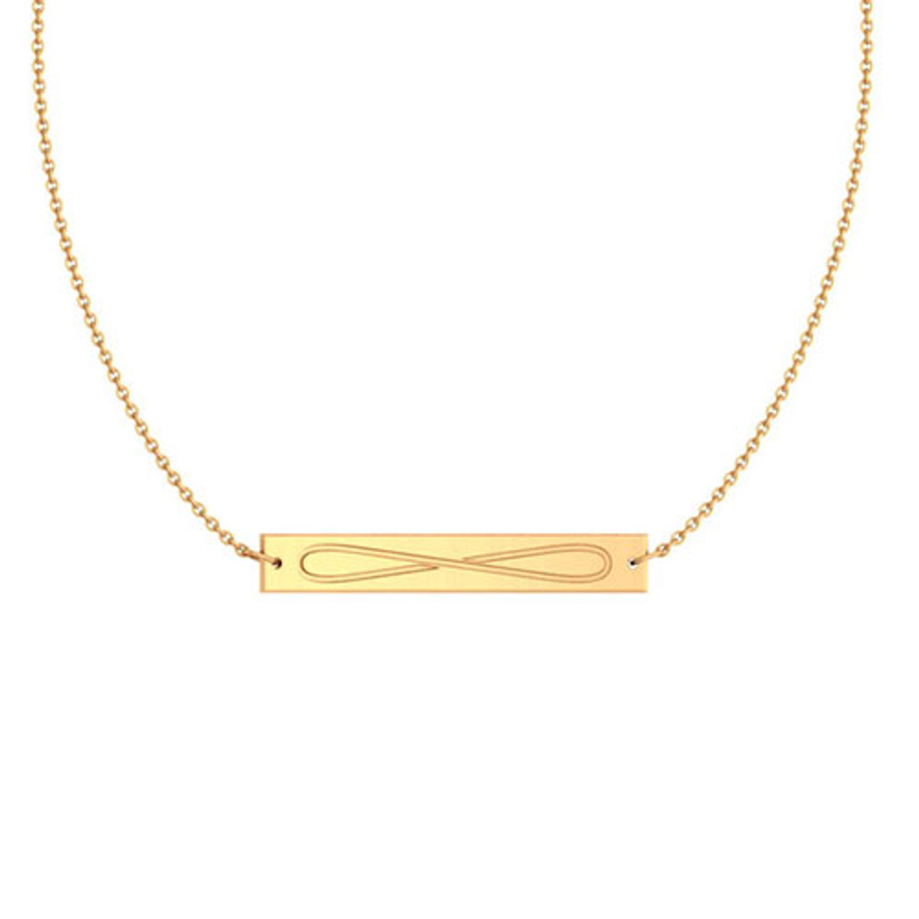 Chi Omega Gold Infinity Bar Necklace