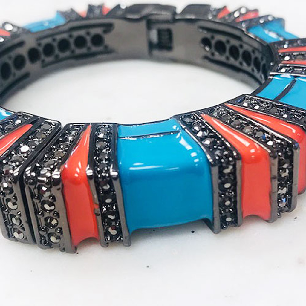 Blue and Orange Cuff