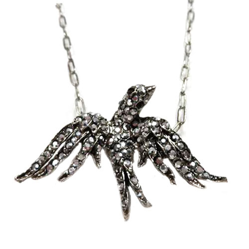 Marcasite Soaring Sparrow Necklace