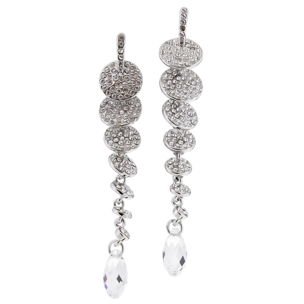 Graduated Pave Disks Earring