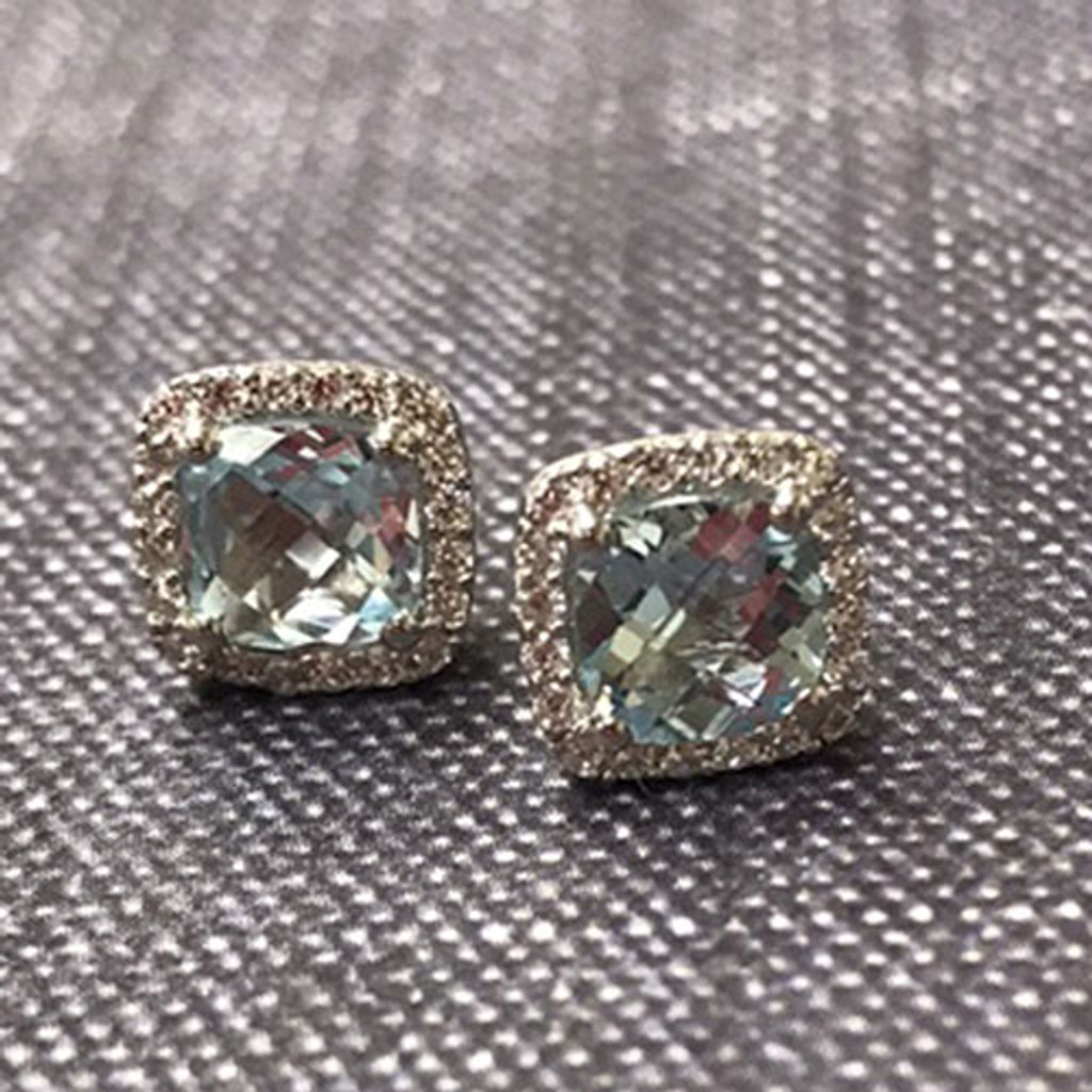 Lafonn's Sky Blue Topaz Square Earrings
