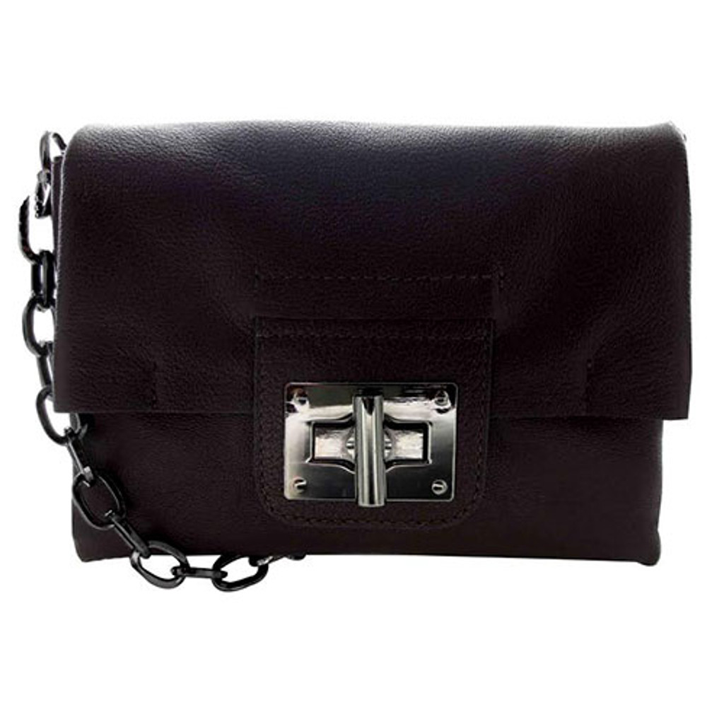 Sondra Roberts Glazed Nappa Leather Cross Body