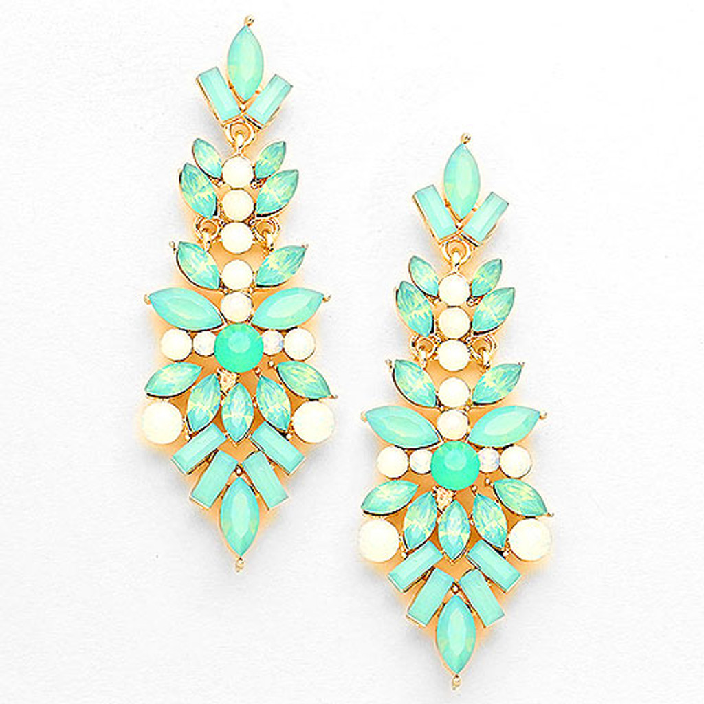 "Mint Opal ""Pop the Champagne"" Earring"