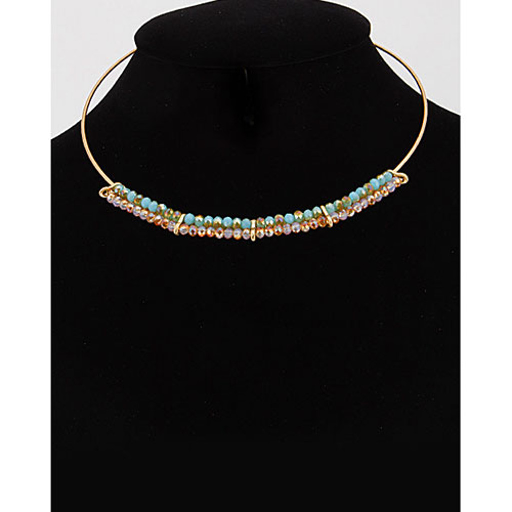 Modern Wire Beaded Collar 1