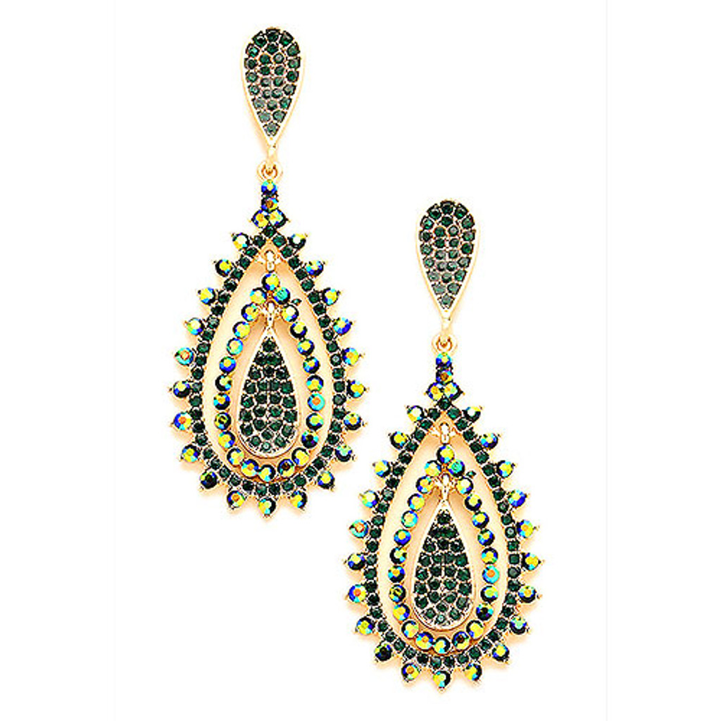 Emerald and Emerald AB Romantica Earring