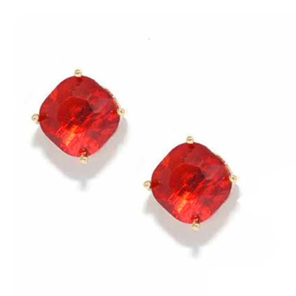 Faceted Chunky Crystal Stud Earring