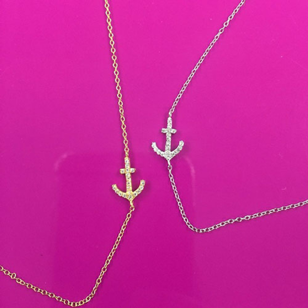 Gold or Silver Anchors Away Necklace