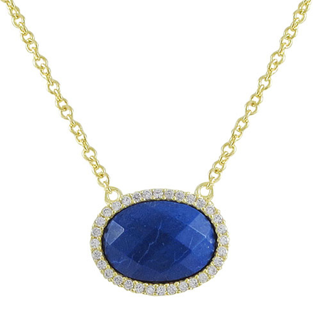 Lapis Oval Necklace