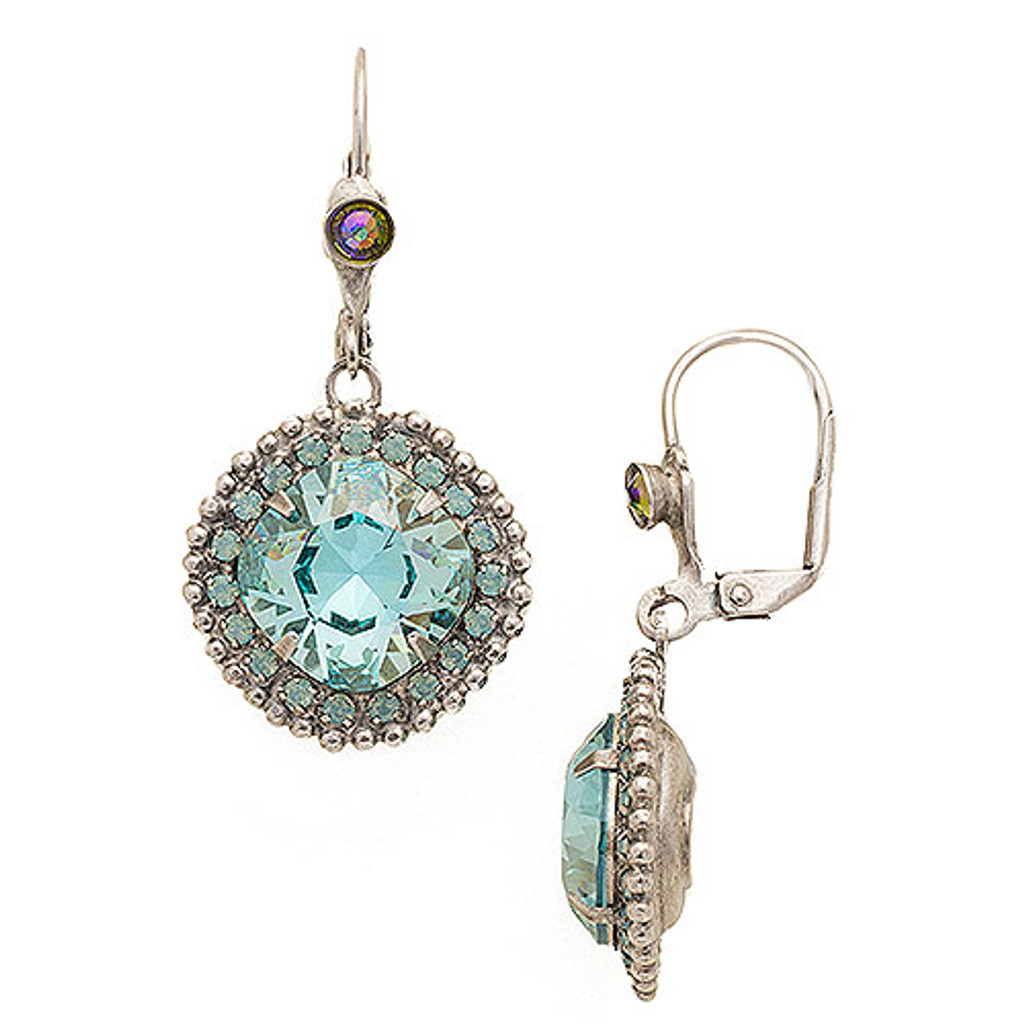 Sorrelli Large Swarovski Teal Crystal Dangle Earring