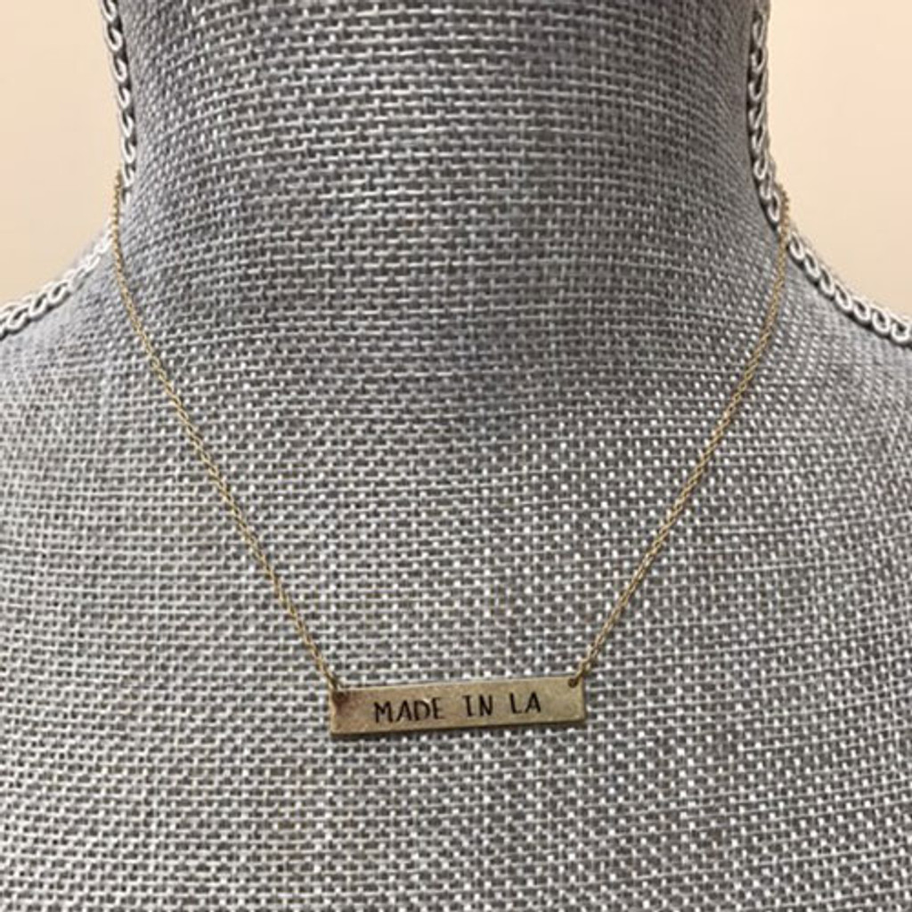 Made in LA Bar Necklace