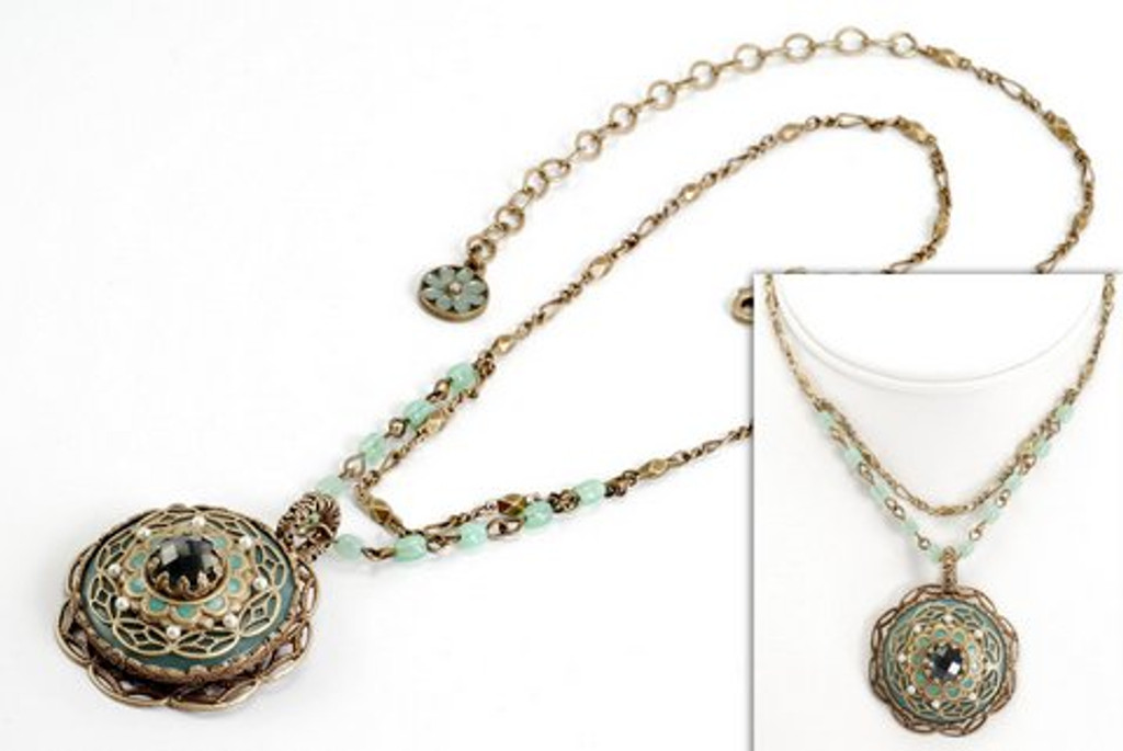 Amazonite Round-Aqua Opal Necklace