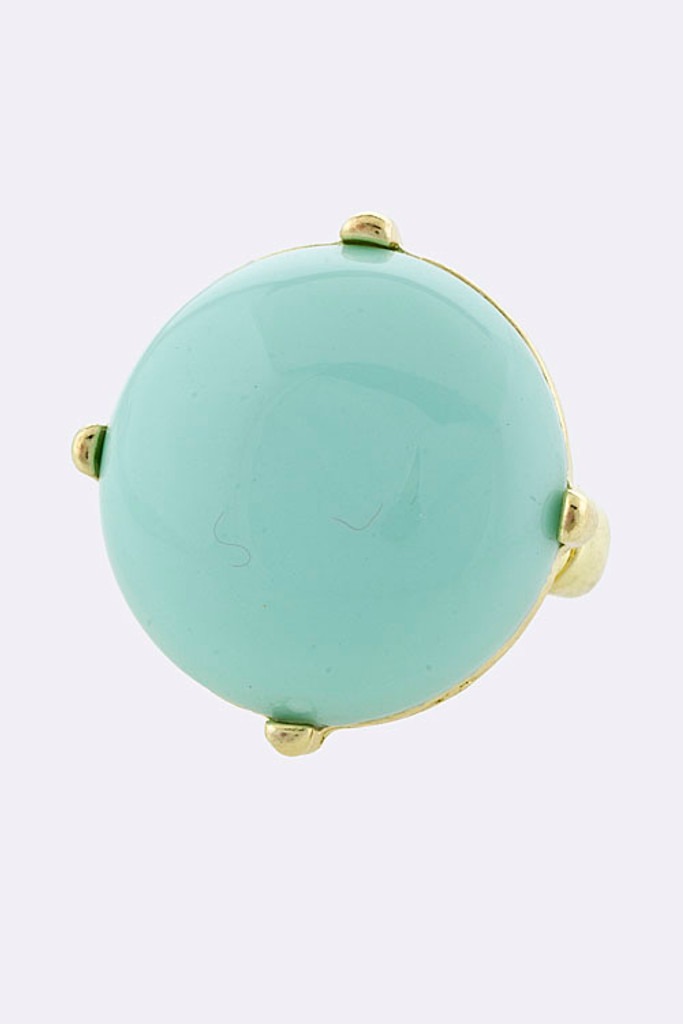 Mint Round Jewel Ring