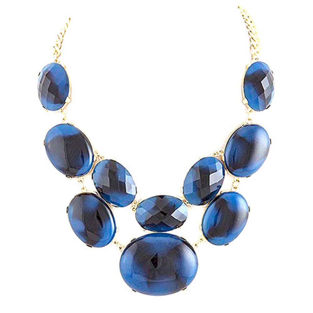 Cleo's Blue Bauble Necklace