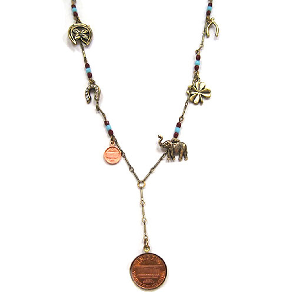 Your Lucky Penny Long Necklace