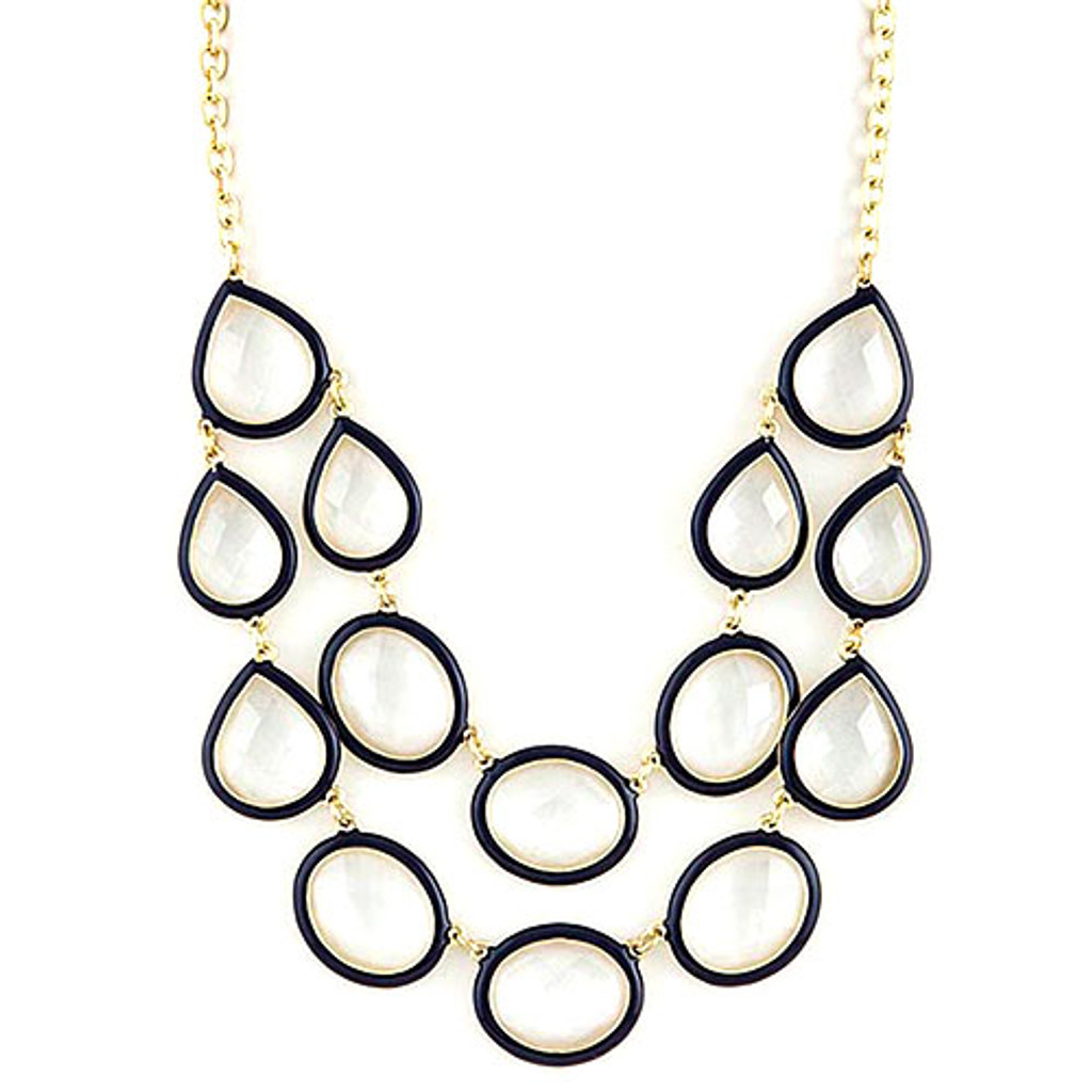 Double Outlined Bauble Necklace