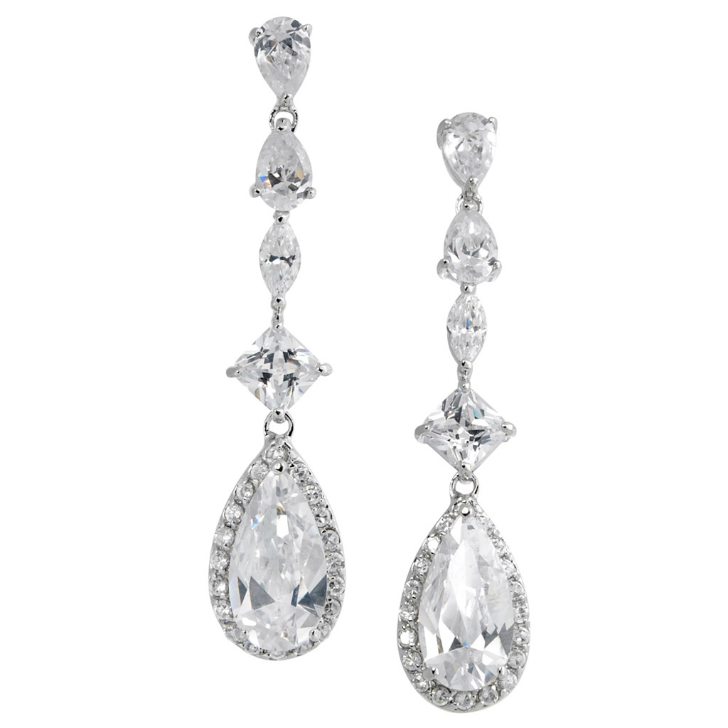 String of Jewels with a Pear Shape Dangle