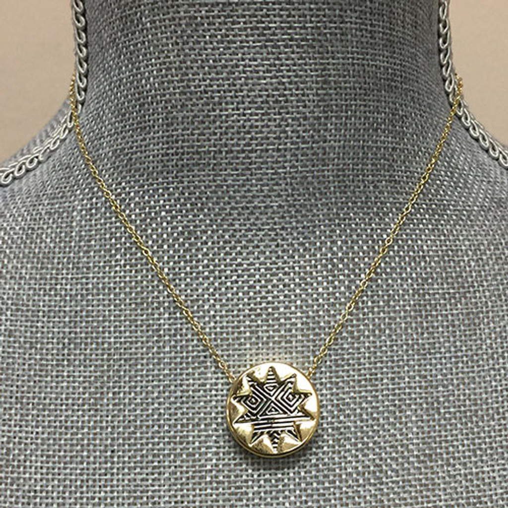 House of Harlow Small Etched Silver & Gold Sunburst