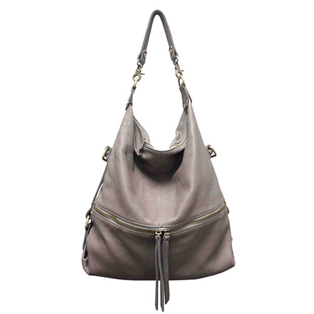"Sondra Roberts ""Perfect"" Gray Handbag"