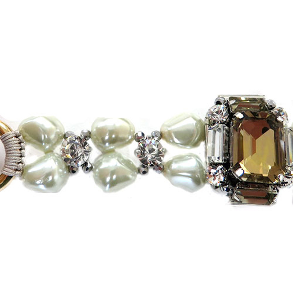 Champagne and Pearls Bracelet